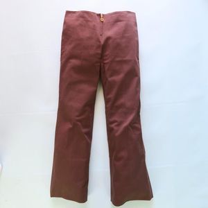 Tory Burch Front Zip Stretch Flare Pants in Brown